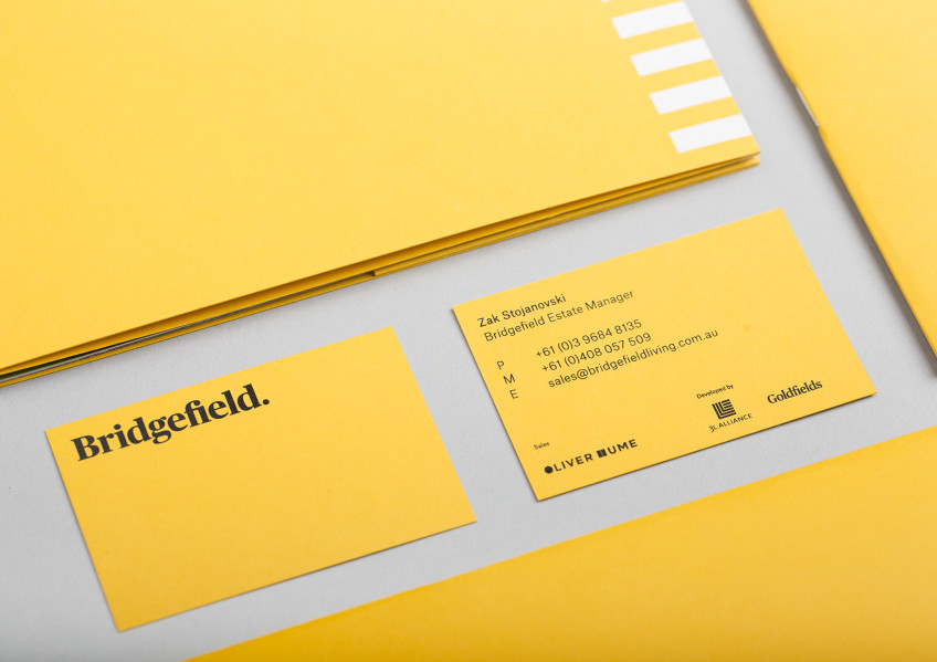 Bridgefield Business Cards, Goldfields