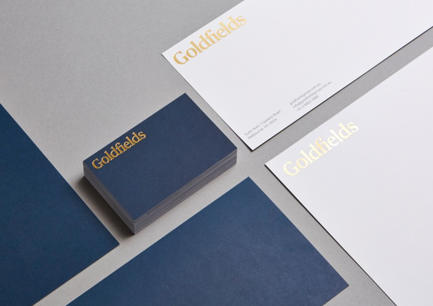 Goldfields Stationery, Gold Deboss