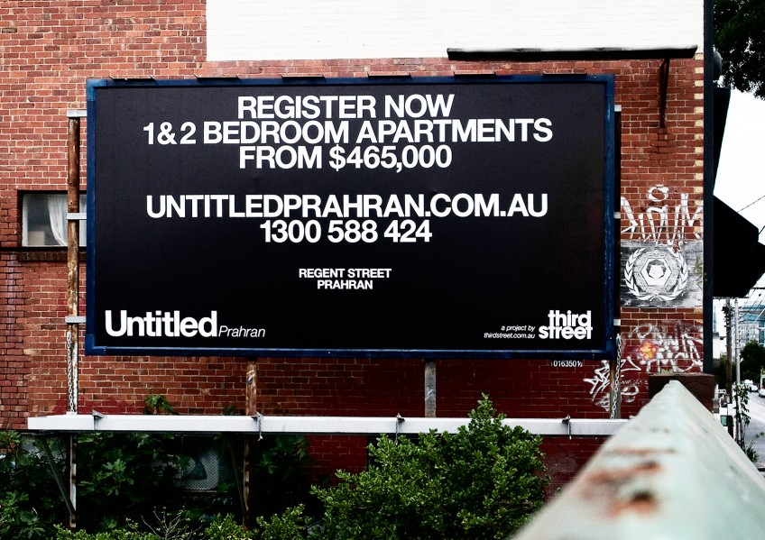 Untitled Apartments, Billboard campaign