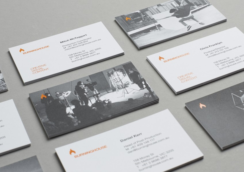 Burning House business cards