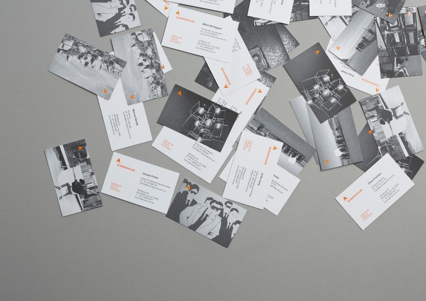 Burning House, business cards